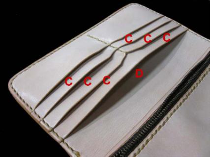 ZERO1プロレスゼロワン大谷晋二郎オフィシャルグッズ革財布レザーカービングロングウォレット内部
